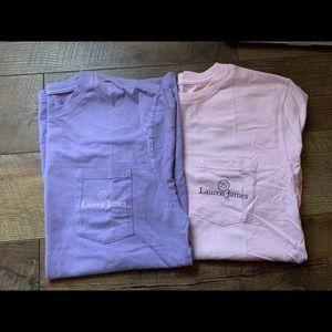 Lauren James Graphic T-Shirt. Purple- M/L, Pink- M